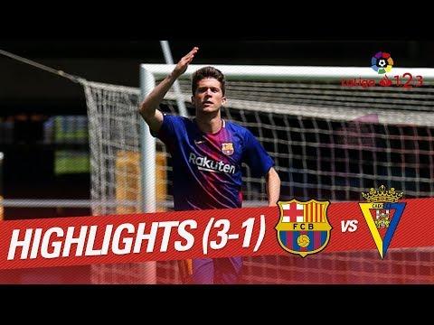 Resumen de FC Barcelona B vs Cádiz CF (3-1)