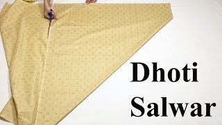 Dhoti Salwars cutting and stitching