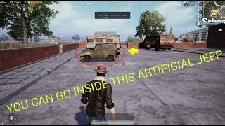How to go inside this Artificial Jeep | PUBG Mobile