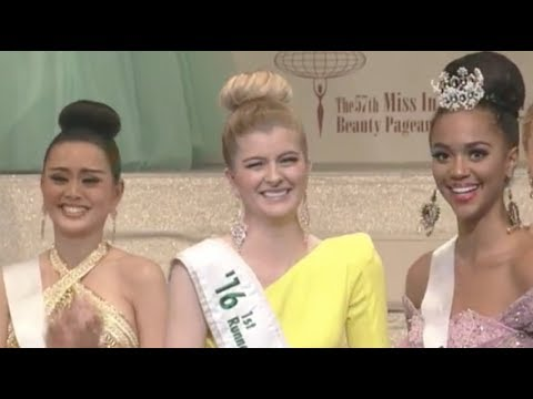"""Miss Curacao """"FUNNIEST & MOST AWKWARD"""" Crowning Moment - Miss International 2017 (HD)"""