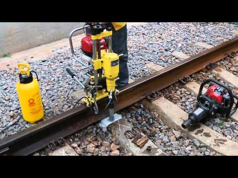 RAILMASTER Sleeper Drilling and Anchor Extracting Machine