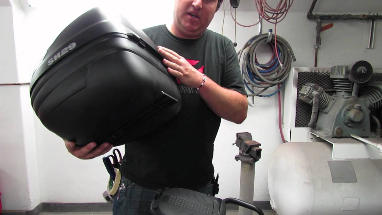 mounting a shad topcase to the piaggio typhoon 125 - youtube