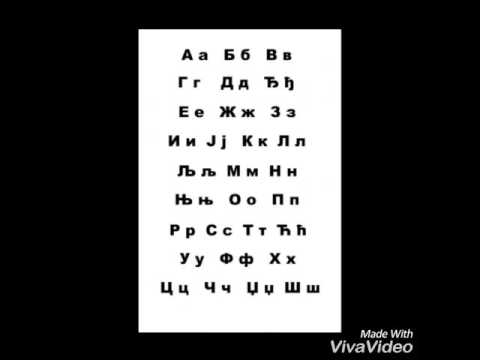 How to pronounce Serbian Alphabet