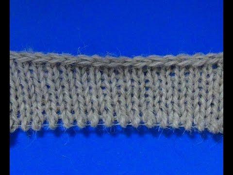 Набор петель косичкой спицами