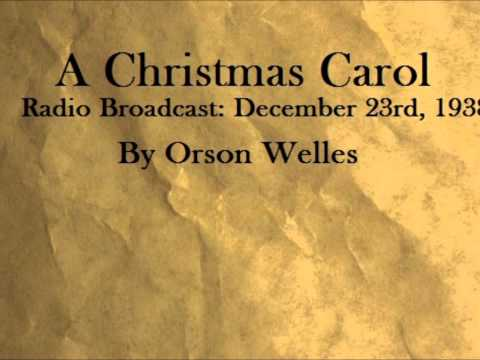 PART 1. A Christmas Carol Radio Audiobook. Orson Welles