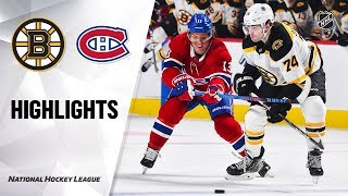NHL Highlights | Bruins @ Canadiens 11/05/19