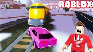 CAR vs TRAIN IN ROBLOX JAILBREAK!