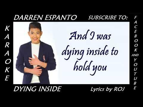 Dying Inside - Darren Espanto (Karaoke Lyrics by ROJ)