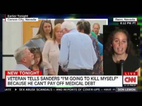 Bernie Talks A Guy Out Of Killing Himself Over Medical Bills
