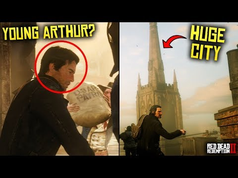 Red Dead Redemption 2 - Launch Trailer BREAKDOWN! Young Arthur, Bow on Horseback, Huge City & More!