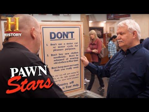 Pawn Stars: Original British WWI Poster (Season 14) | History