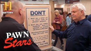 Pawn Stars: Original British WWI Poster (Season 14) | History