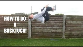 how to do a standing back flip tuck on ground tutorial jamie o hagan