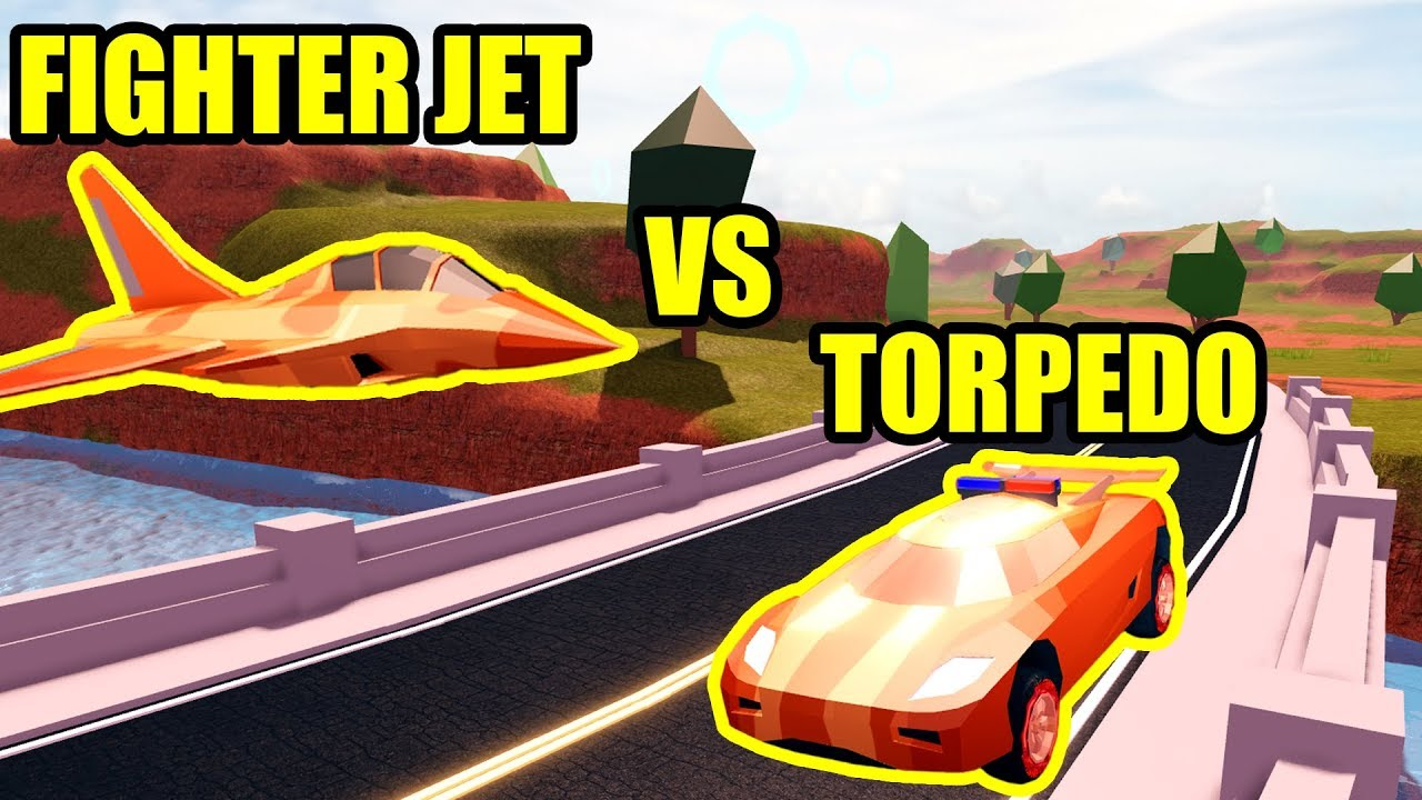 Can Fighter Jet Beat The Torpedo Roblox Jailbreak Planes