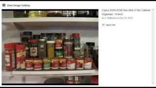 Copco 2555-0188 Non-skid 3-tier Cabinet Organizer, 15-inch - Spice Rack