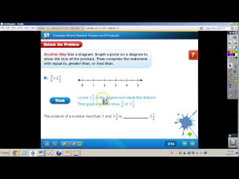 Compare Mixed Number Factors and Products