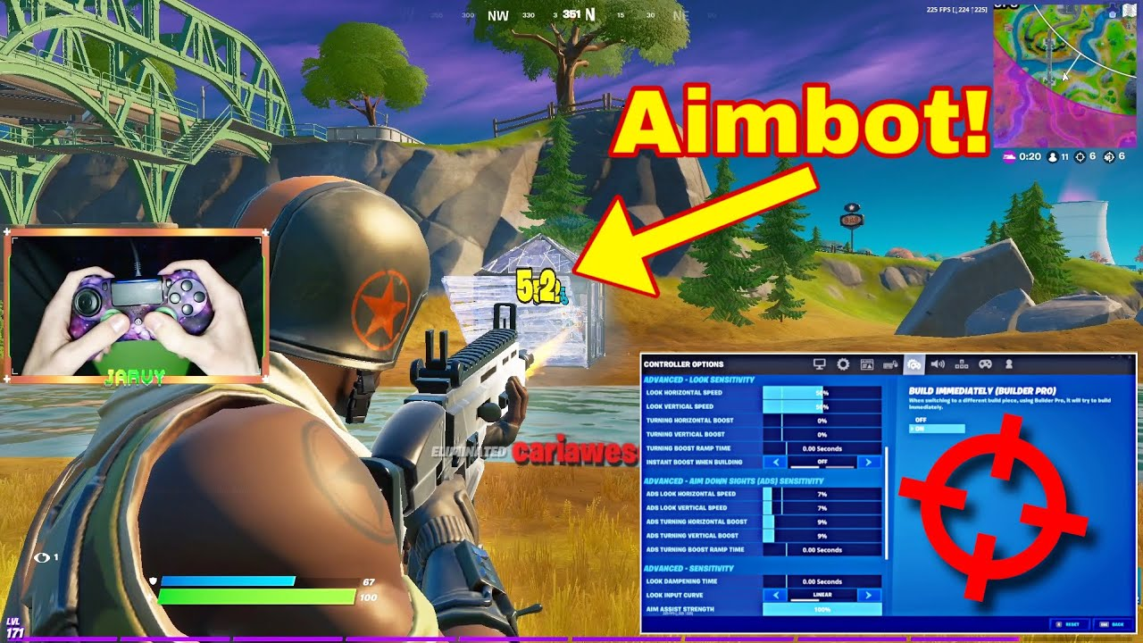"""Fortnite Montage - """"RANSOM"""" (But It's Aimbot on Linear) + Best Controller Settings for (PS4/PC/XBOX)"""