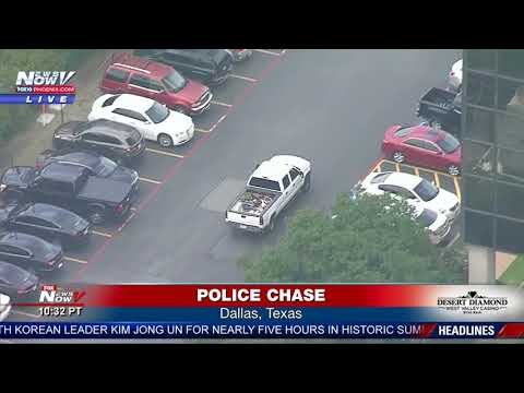 SUSPECT GETS AWAY After Tense Police Chase in Dallas, Texas (FNN)
