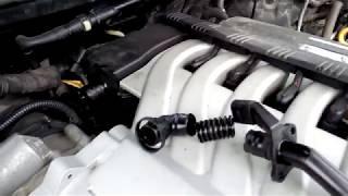 Замена патрубка вентиляции картерных газов 3.6FSI Q7/Touareg
