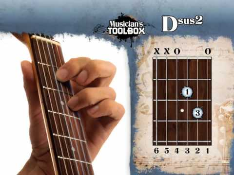 How To Play The D Sus 2 Chord On Guitar Dsus2 Youtube
