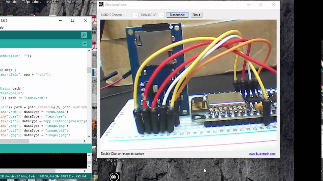 SD card Webserver using Esp8266 Nodemcu