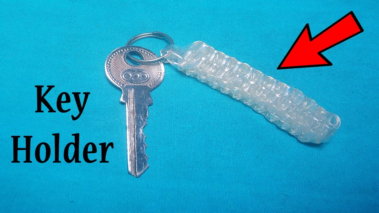 How To Make A Key Holder With Plastic Tube Youtube