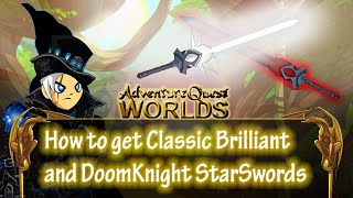 aqw classic brilliant and doomknight starswords how to get