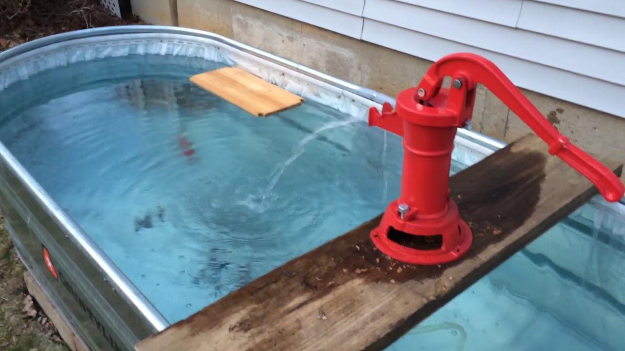 300 gallon koi stock tank pond youtube for Koi pond gallons
