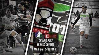 Ontario Fury vs El Paso Coyotes
