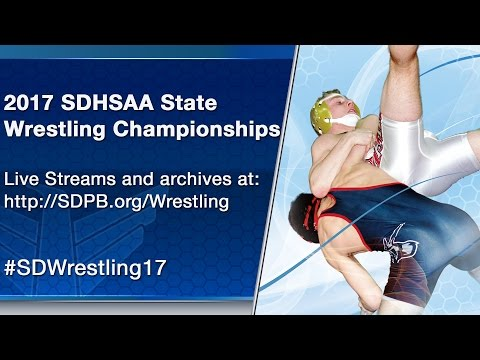 2017 SDHSAA State A Wrestling Tournament - Second Session Mat 3