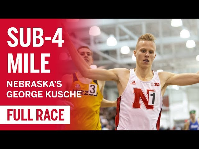 Are You Faster Than George Kusche? (Spoiler: You're Not) | Nebraska Runner Breaks Sub-4:00 Mile