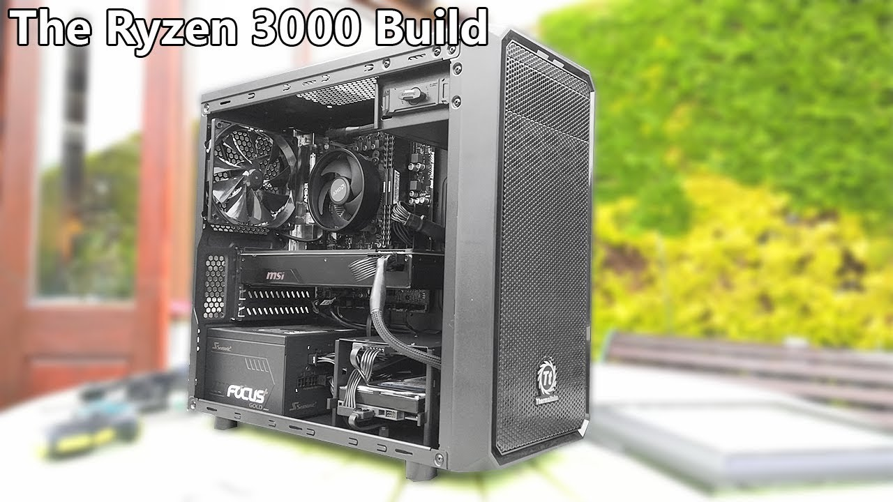 Building A Ryzen 5 3600 Gaming Pc Youtube