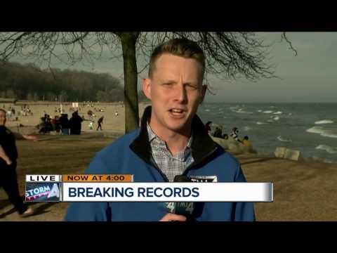 Locals enjoy record breaking temperatures