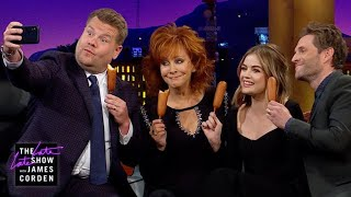 Reba McEntire Introduces James to Corn Dogs