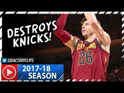 Kyle Korver Full Highlights vs Knicks (2017.11.13) - 21 Pts off the Bench!
