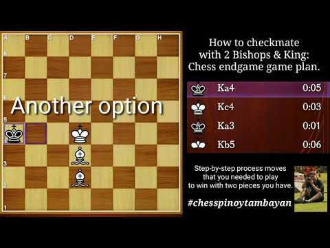 How To Checkmate With 2 Bishops And King
