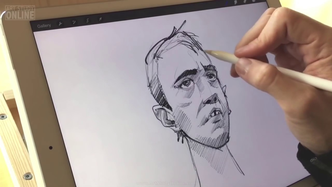 Apple pencil test review using ipad pro