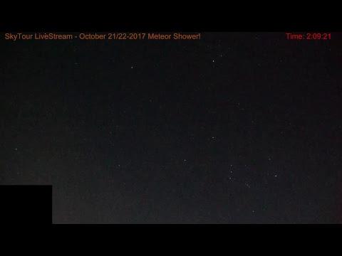 SkyTour LiveStream 10-21-22 2017 Orionid Meteor Shower