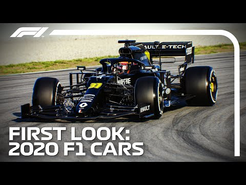 First Look! 2020 F1 Cars Hit The Track in Barcelona