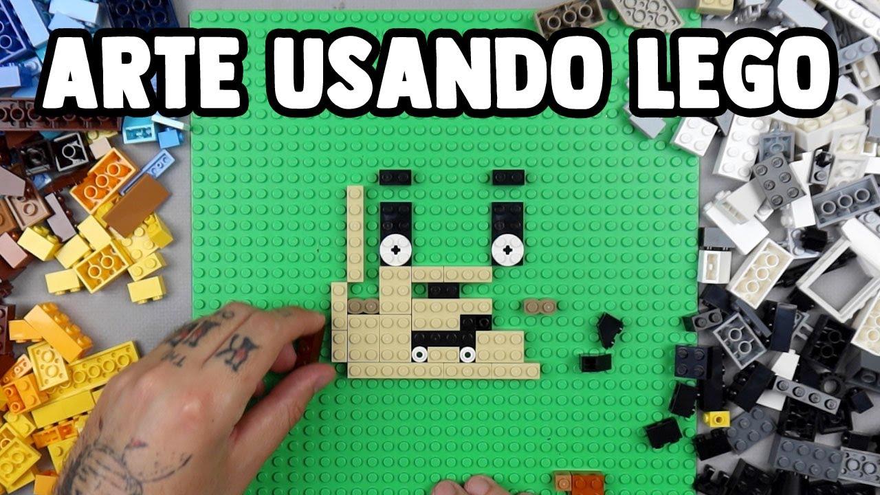 FIZ UMA OBRA DE ARTE USANDO SOMENTE LEGO! - Desafio de Arte