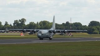 Lockheed C-130E Hercules Swedish Air Force arrival on Monday RIAT 2014 Air Show