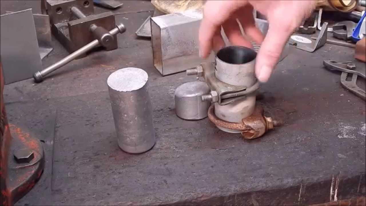 Back yard casting home brew aluminium round stock