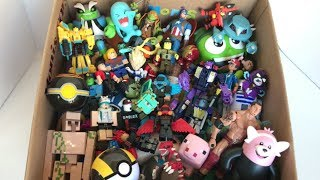 Box of Toys Roblox Figures Pokemon Figures Action Figures Minecraft Ben 10 Transformers