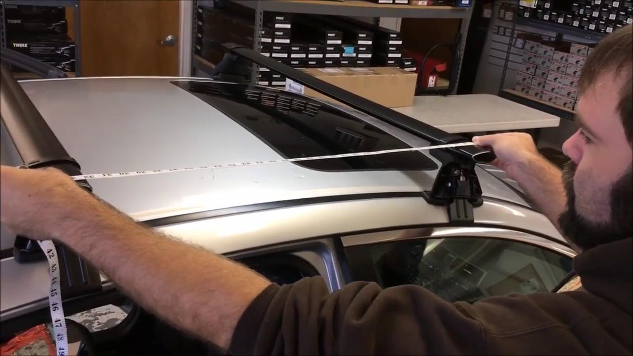 Yakima Honda Accord 4 Door Baseline Car Roof Rack With Steel Corebars Baseclips Youtube