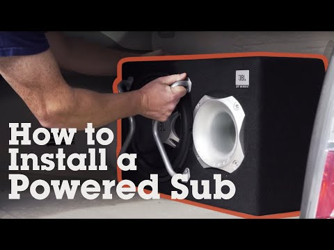 How to hook up home subwoofer in car