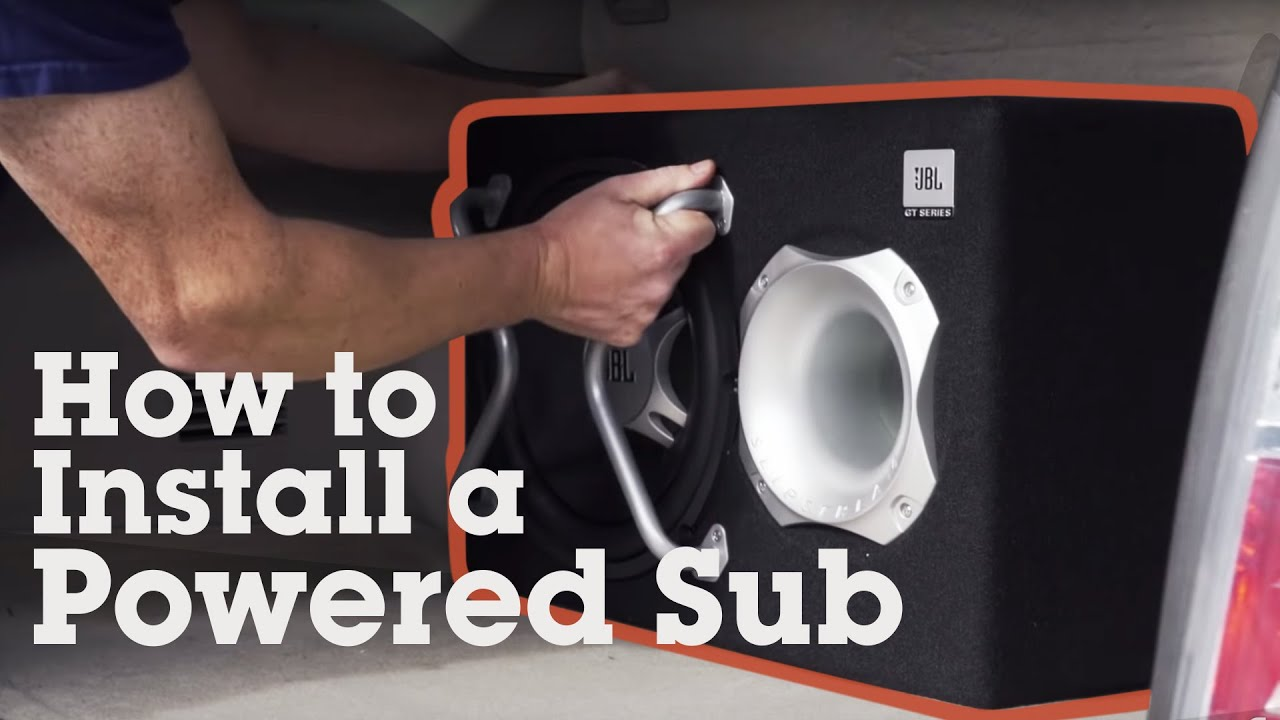 How To Install A Powered Subwoofer In Your Car Crutchfield Video Kenwood Sub Amp Wiring Harness Colors Youtube