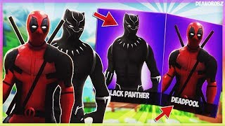 *Leaked Deadpool And Black Panther Skin* (Season 4) Fortnite Battle Royale (Giveaway)