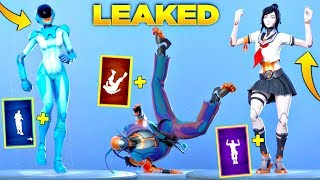 'NEW' LEAKED Fortnite Skins - Emotes! GRATUIT Articles Fortnite! (Gemini Skin V2, Tsuki, Reckless, Revel)