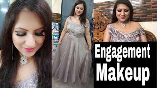 दुल्हन सगाई में मेकअप कैसे करें आसान तरीका Engagement/ Reception/Wedding Guest Makeup tutorial Hindi