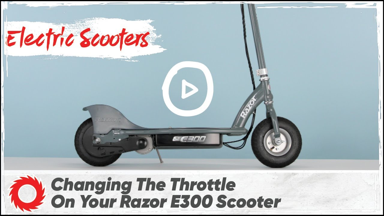 How to Change the Throttle on the Razor E300 and E300S Electric Scooter